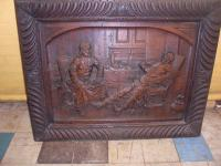 19th Century Carved Oak Panel, Possibly Irish