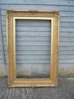 Large 18th Century Gilded Portrait Frame