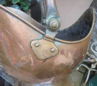 Victorian Copper Helmet Style Coal Bucket (4 of 5)