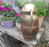 Large Brass Bound Wooden Jug (3 of 6)