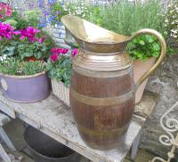 Large Brass Bound Wooden Jug (4 of 6)