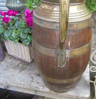 Large Brass Bound Wooden Jug (6 of 6)