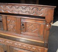 17th Century Carved Oak Cupboard (4 of 5)