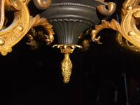 French Empire Bronze & Ormolu Six Branch Chandelier (7 of 13)