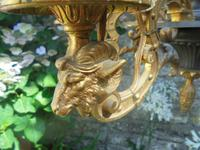 French Empire Bronze & Ormolu Six Branch Chandelier (4 of 13)