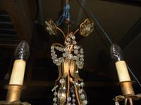 Three Branch Glass Chandelier C.1920 (8 of 8)