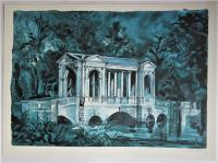 John Piper, Boycott Pavilion, Stowe, Number 2 of 50, Signed Lithograph, 1983