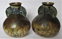 Pair of Large Martin Brothers Stoneware Vases, 1883