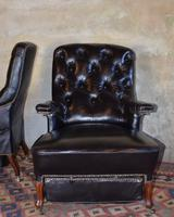 French Second Empire Rosewood & Leather Reclining Chair