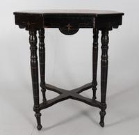 Victorian  Ebonised & Amboyna Occasional Table (2 of 3)