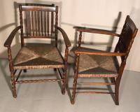 Pair of Carver Chairs c.1900 (7 of 7)