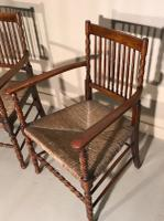 Pair of Carver Chairs c.1900 (4 of 7)