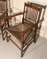 Pair of Carver Chairs c.1900 (3 of 7)
