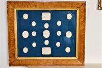 Framed Set of 17 Plaster Intaglios