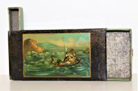 Tole Ware Tobacco Box with Vesta and Striker