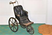 Childs Early Perambulator Ideal for a Collector of Antique Dolls. This Perambulator Is a Charming Example of a Victorian Pram (2 of 5)