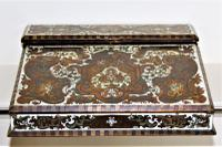 Fine Quality French Writing Slope Inlaid with Brass & Pewter c.1880
