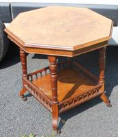 1900s Walnut Occasional Table with Inlay