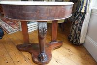 1910s Mahogany Demi Lune Side Table with Marble Top (2 of 3)