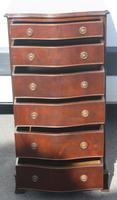 1960s Mahogany Serpentine Chest of 6 Drawers (2 of 4)