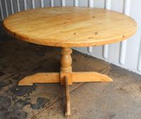 1940s Country Pine Round Dining Table on Base (3 of 4)