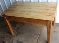 1900s Country Pine Small Rectangle Side Table with Drawer (2 of 3)