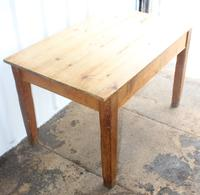 1900s Country Pine Small Rectangle Side Table with Drawer (3 of 3)