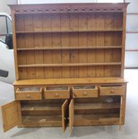 1920s Large Antique Pine Original Dresser with Rack (2 of 4)