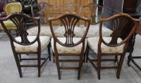1900s Mahogany Set 6 Wheatcheaf Style Dining Chairs 4+ 2 Carvers (3 of 3)