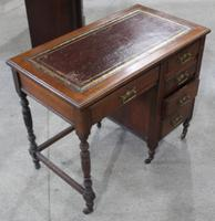 1920s Oak Desk with Red Leather Top (3 of 4)