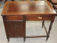 1920s Oak Desk with Red Leather Top (4 of 4)