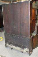 1960s Large 3 Door Mahogany Bookcase with Wire Mesh on Top Section (5 of 5)