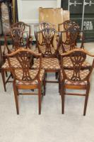 1960's Mahogany Set of 8 Wheatcheaf Design Dining Chairs (3 of 3)