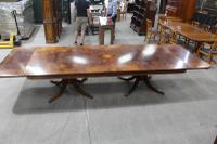 1960s Fabulous Quality Mahogany Dend Dining Table with 2 X Leaves and Inlay (2 of 8)