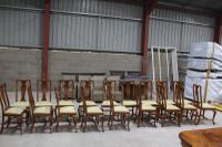 1960s Set of 18 Mahogany Queen Anne Style Dining Chairs with Pop-out Seats (2 of 4)