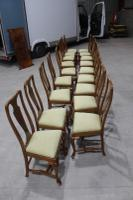 1960s Set of 18 Mahogany Queen Anne Style Dining Chairs with Pop-out Seats (4 of 4)
