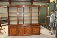 1960s Large 4 Door Mahogany Breakfront Bookcase with Glazed Top (2 of 5)