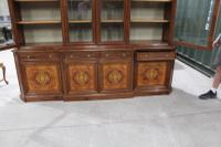 1960s Large 4 Door Mahogany Breakfront Bookcase with Glazed Top (3 of 5)