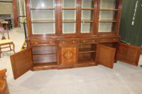 1960s Large 4 Door Mahogany Breakfront Bookcase with Glazed Top (5 of 5)
