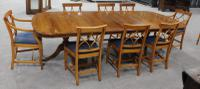 1960s Walnut Dining Suite with Set 8 Dining Chairs. 6 +2 Carvers (2 of 7)