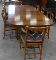 1960s Walnut Dining Suite with Set 8 Dining Chairs. 6 +2 Carvers (3 of 7)