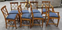 1960s Walnut Dining Suite with Set 8 Dining Chairs. 6 +2 Carvers (6 of 7)