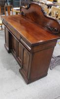 1900s Mahogany 4 Door Sideboard with 3 Drawers & Carved Back (2 of 5)