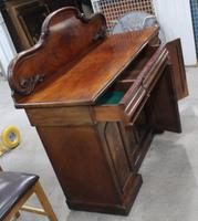 1900s Mahogany 4 Door Sideboard with 3 Drawers & Carved Back (4 of 5)