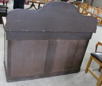 1900s Mahogany 4 Door Sideboard with 3 Drawers & Carved Back (5 of 5)