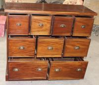 1960s Solid Mahogany Chemist Drawers (2 of 4)