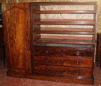 1900s Large 3 Door Mahogany Compactum Wardrobe with Good Interior (2 of 3)
