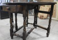 Small Oak Gateleg Table with Drawer c.1880 (3 of 7)