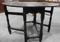 Small Oak Gateleg Table with Drawer c.1880 (4 of 7)