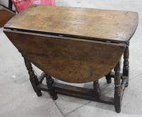 Small Oak Gateleg Table with Drawer c.1880 (7 of 7)